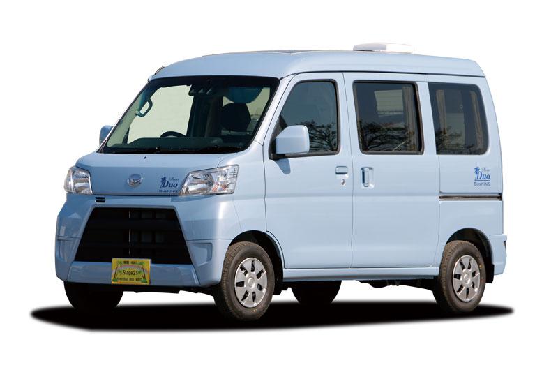 売約御礼【即納車】リゾートデュオ バスキング ハイゼット(デモカー) 走行少なめ お買い得!