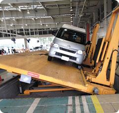 車体の強度チェック・耐久性検査